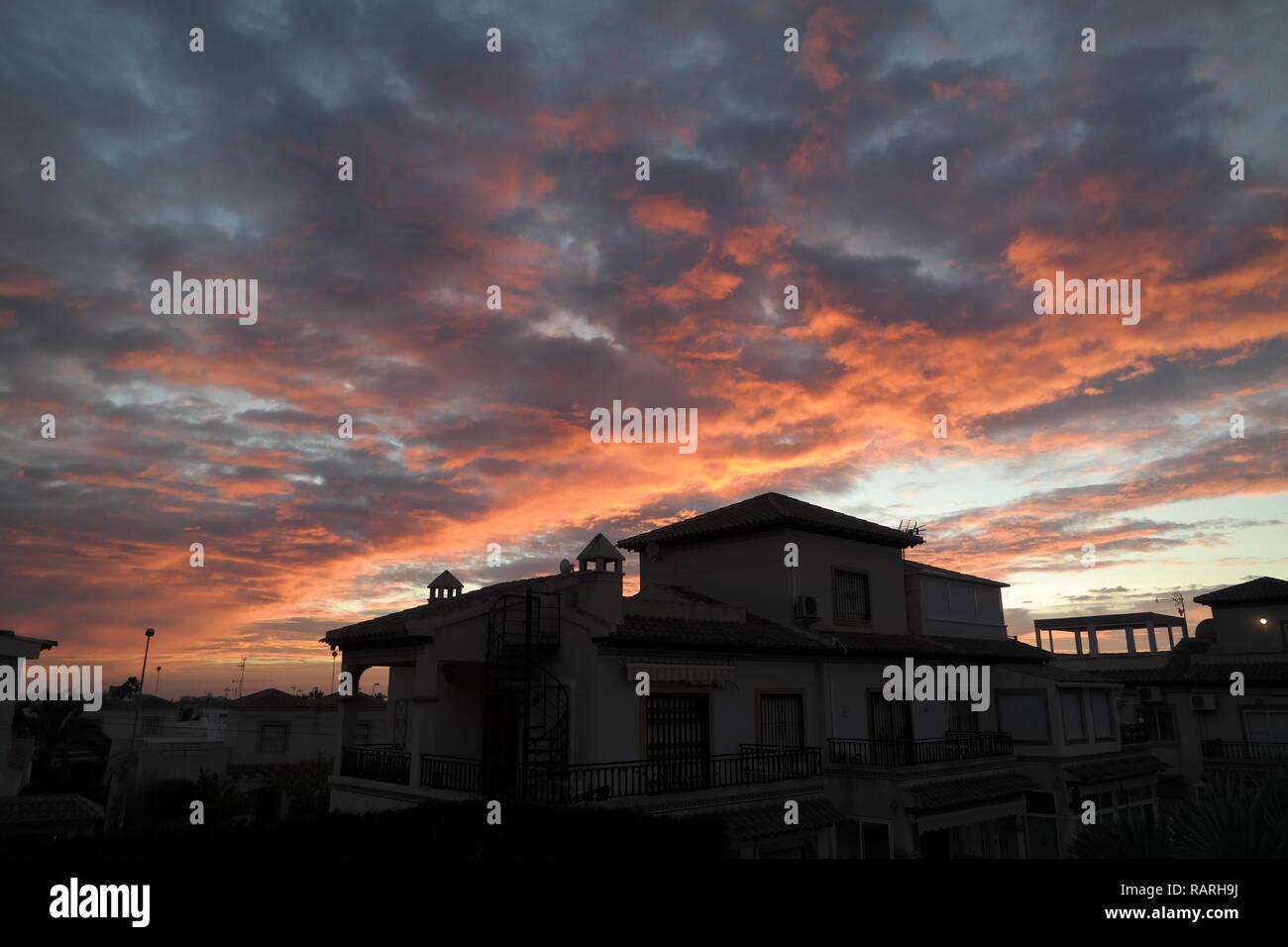Sunrise over the Med. - Stock Image