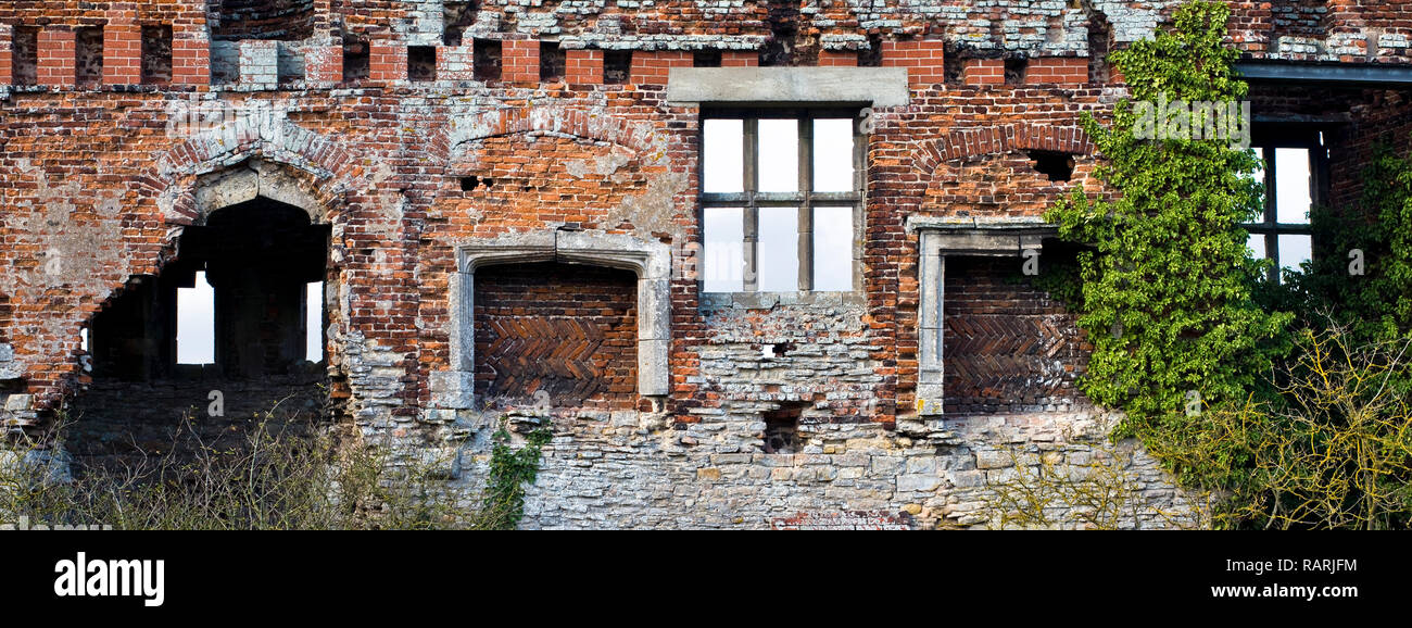 Torksey Castle detail, Lincolnshire, England (4) - Stock Image