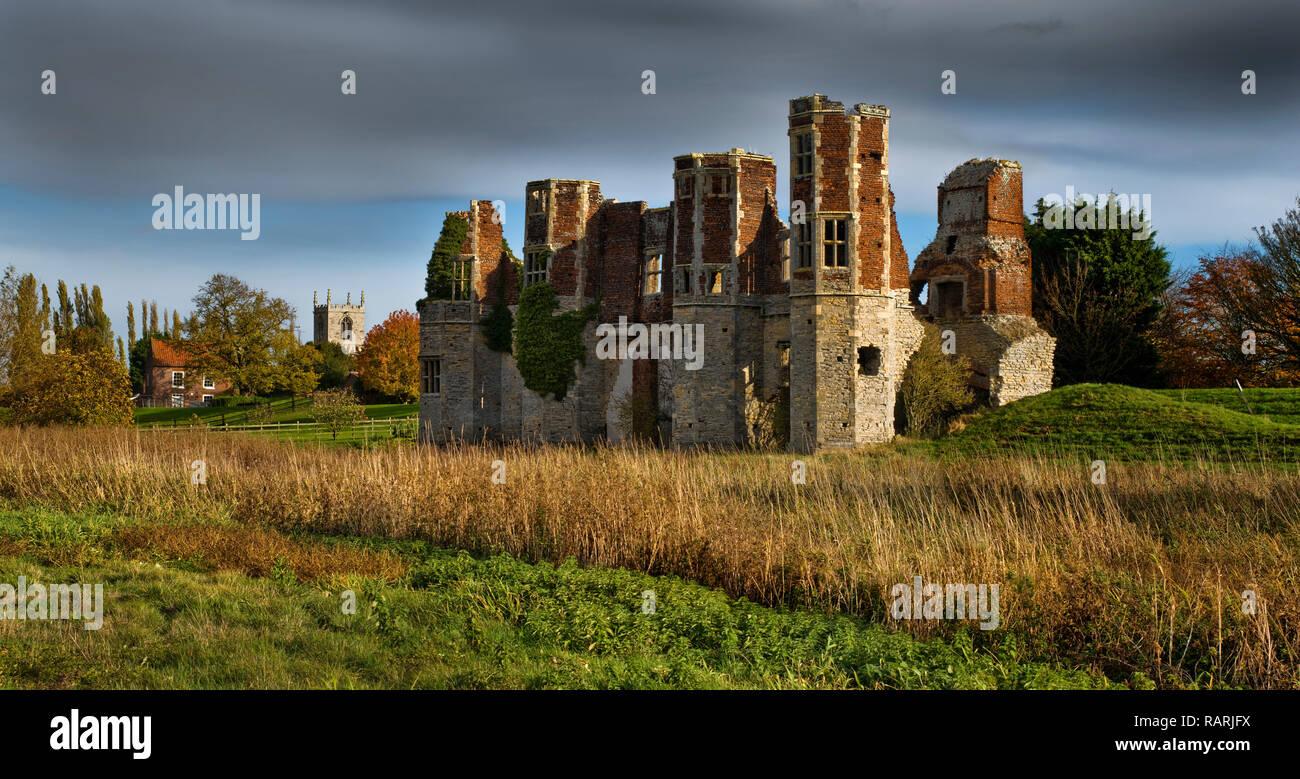 Torksey Castle, Lincolnshire, England (1) - Stock Image