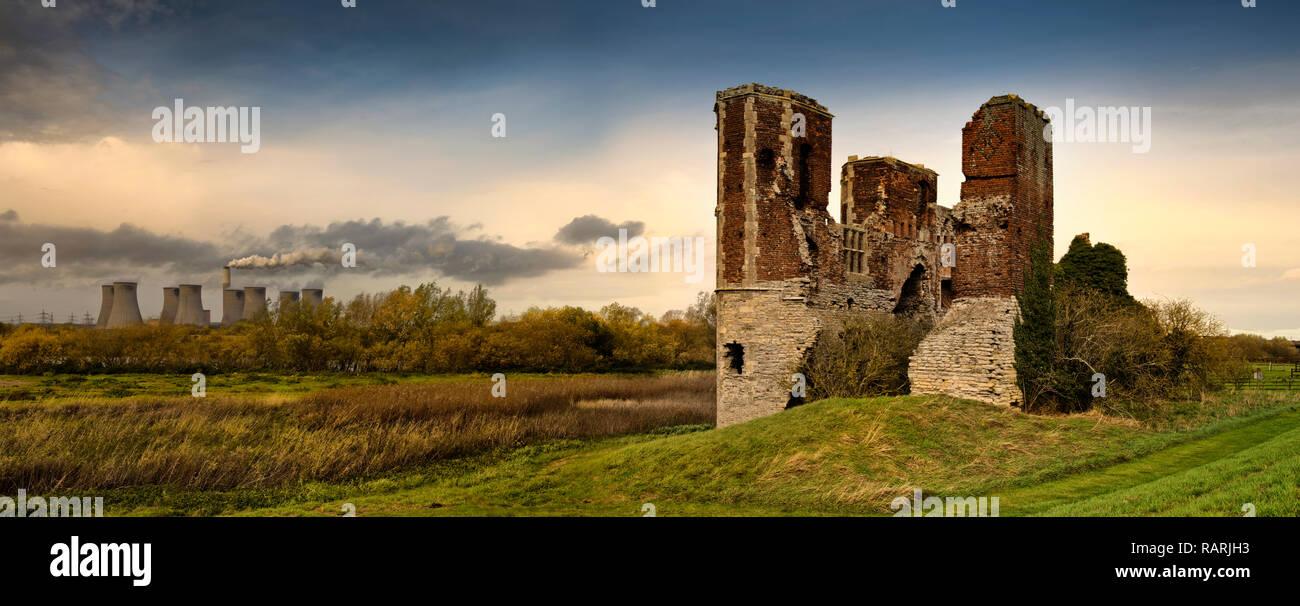 Torksey Castle, Lincolnshire, England (5) - Stock Image