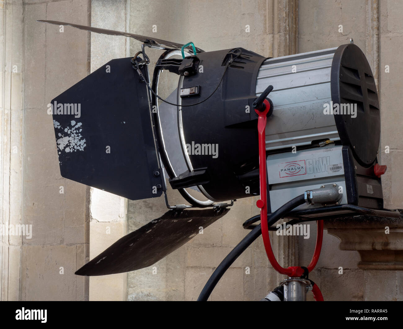 Large 6kW lamp for use on film sets supplied by Panalux. - Stock Image