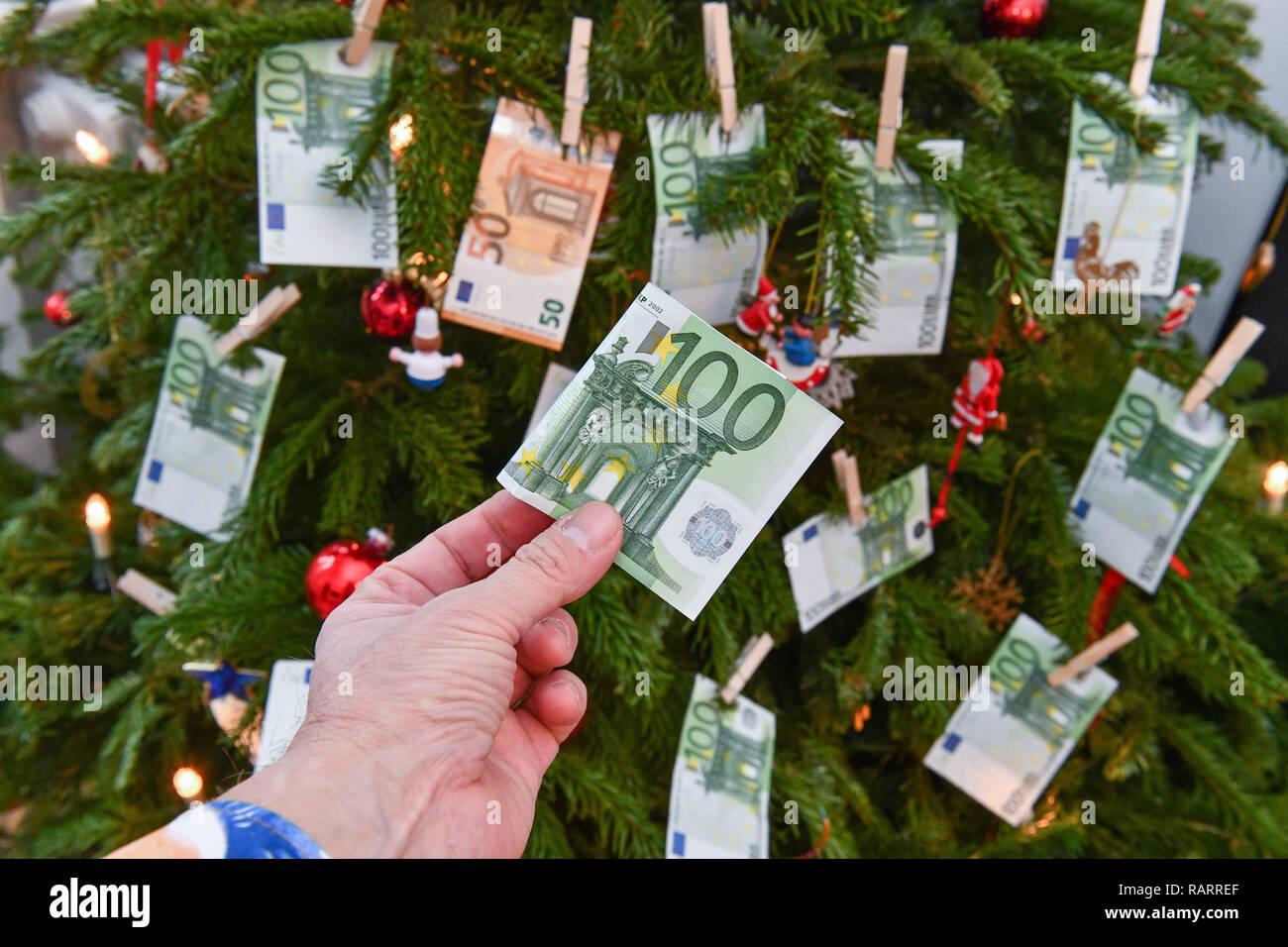 Symbolic photo, gift of money, Christmas, Symbolfoto, Geldgeschenk, Weihnachten Stock Photo