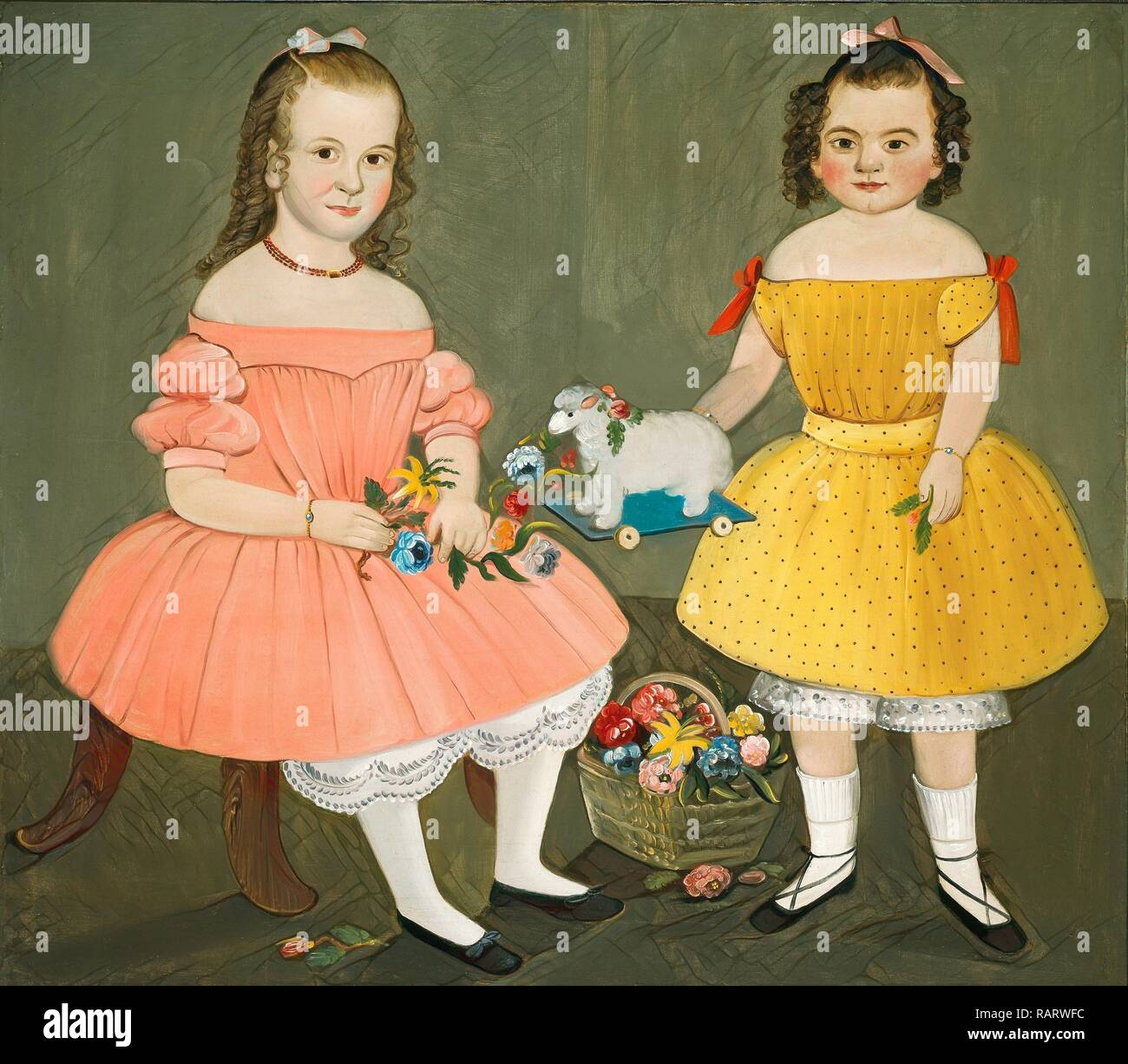 William Matthew Prior, The Burnish Sisters, American, 1806-1873, 1854, oil on canvas. Reimagined by Gibon. Classic reimagined - Stock Image