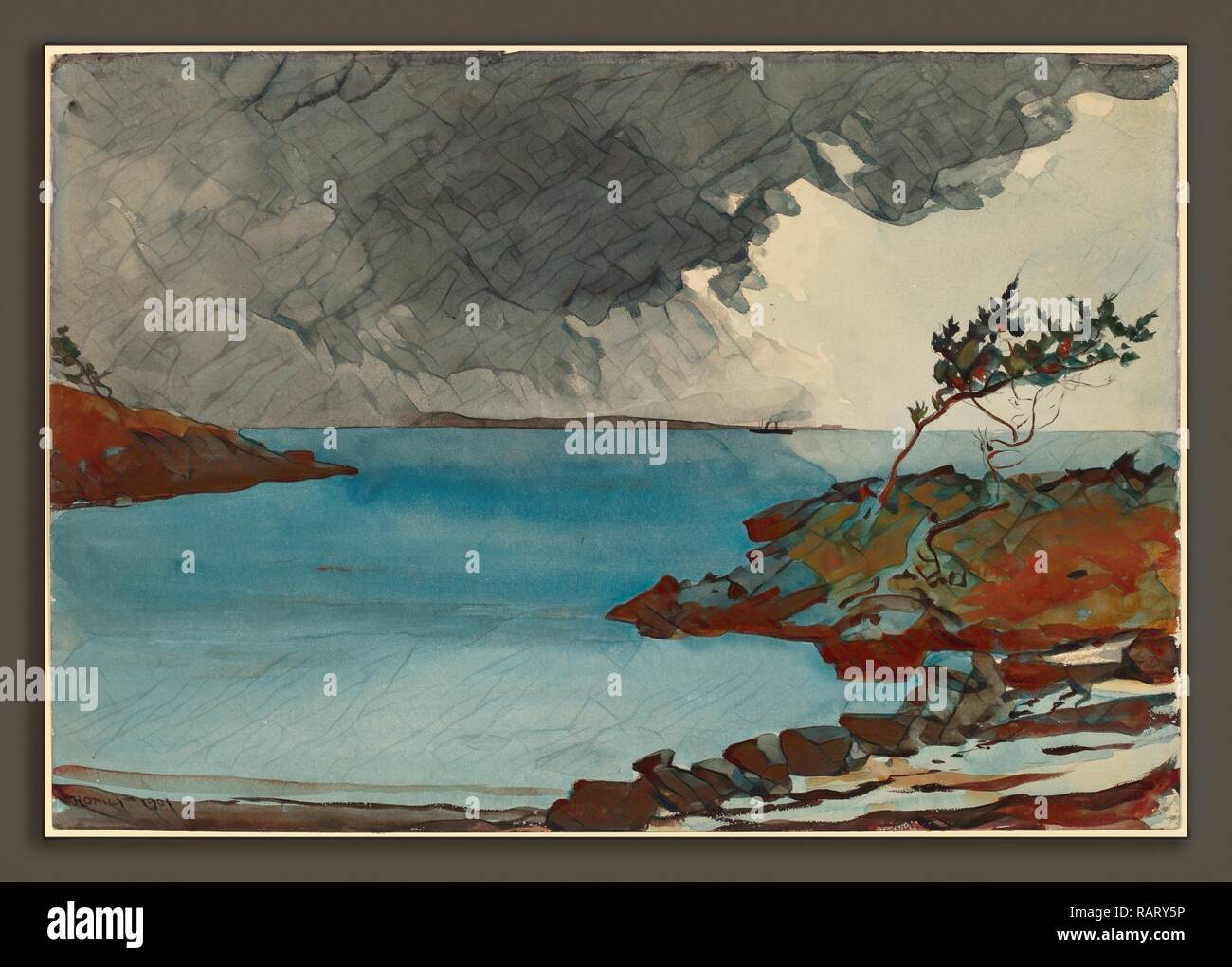 Winslow Homer, The Coming Storm, American, 1836 - 1910, 1901, watercolor over graphite. Reimagined by Gibon. Classic reimagined - Stock Image