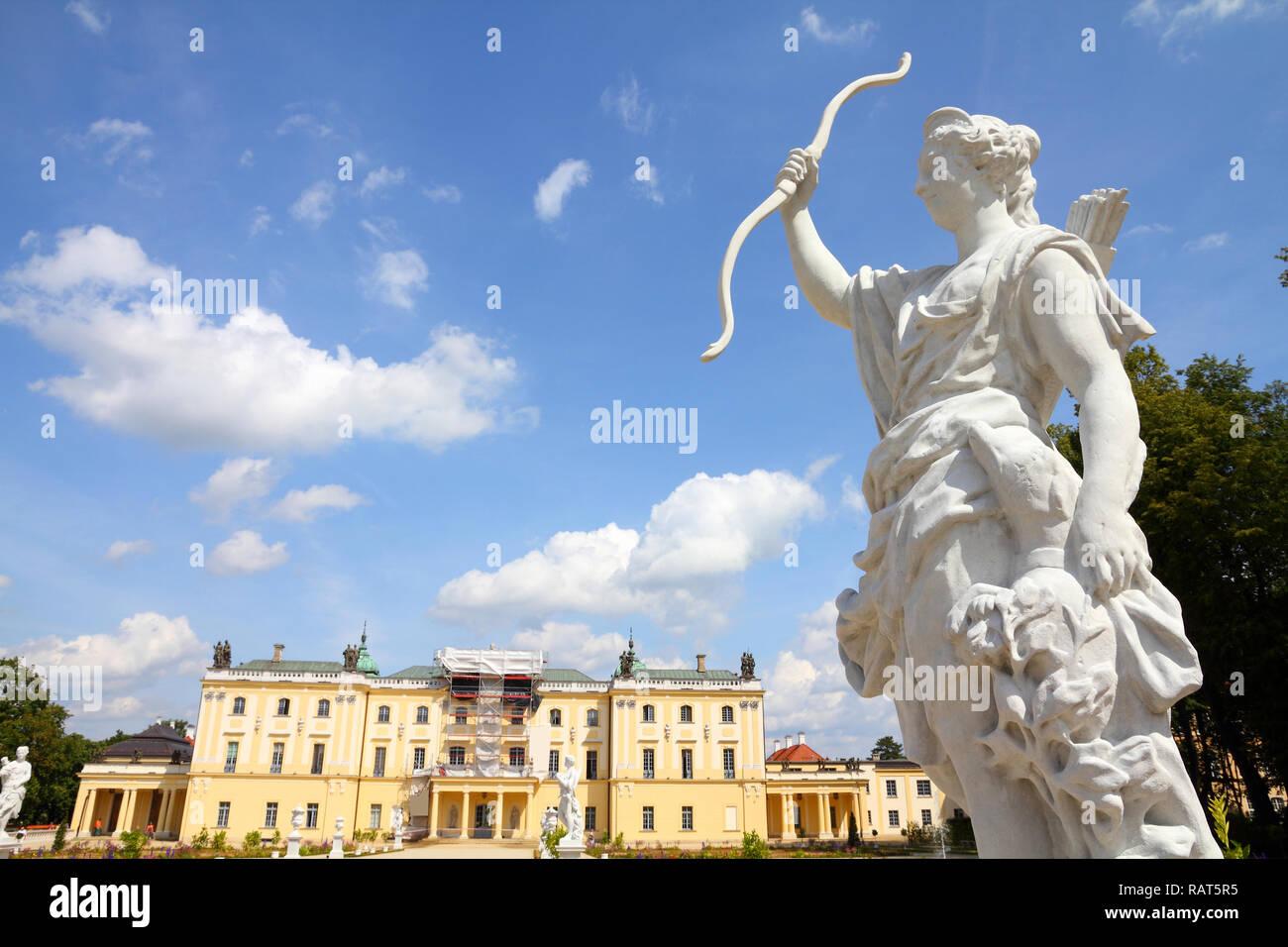 Bialystok, Poland - city architecture. Podlaskie province. Famous Branicki Palace. - Stock Image