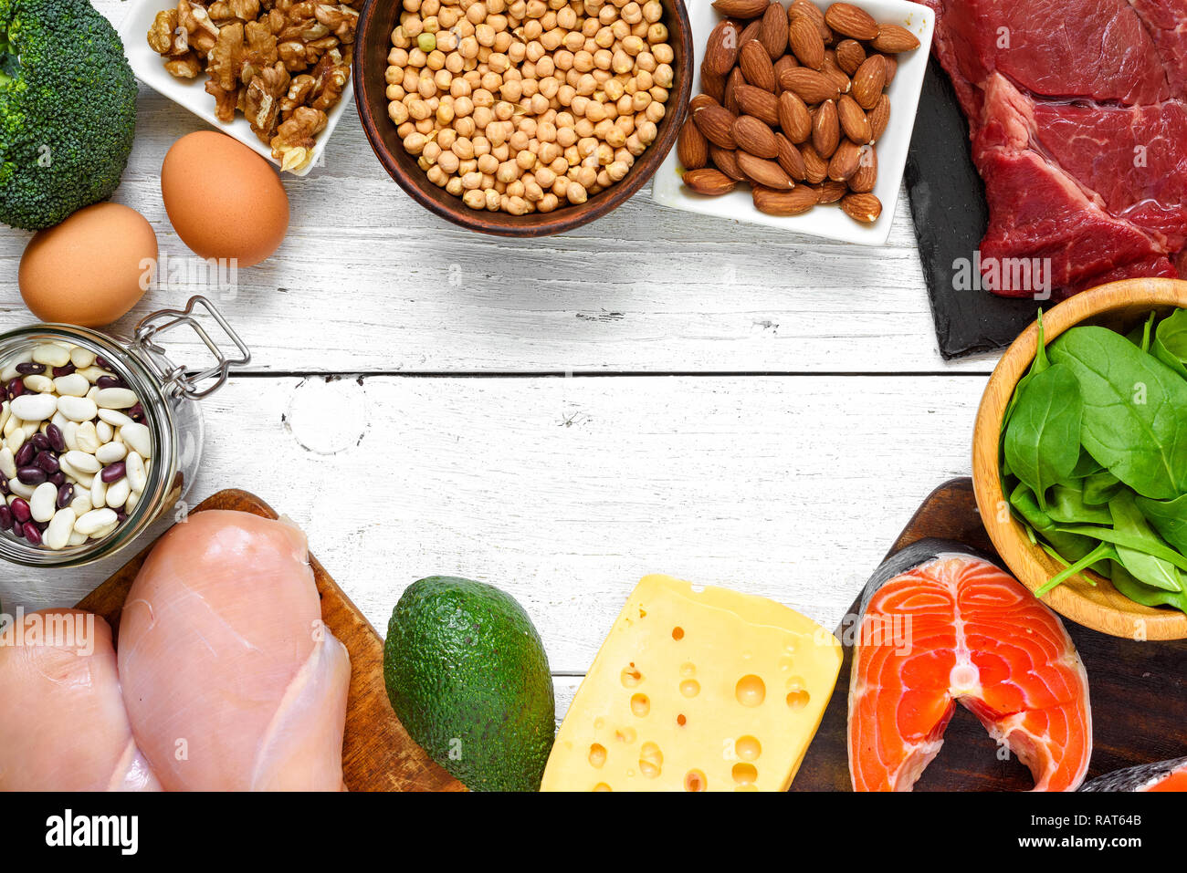 Healthy Food Fish Meat Eggs Vegetables High Resolution Stock Photography And Images Alamy