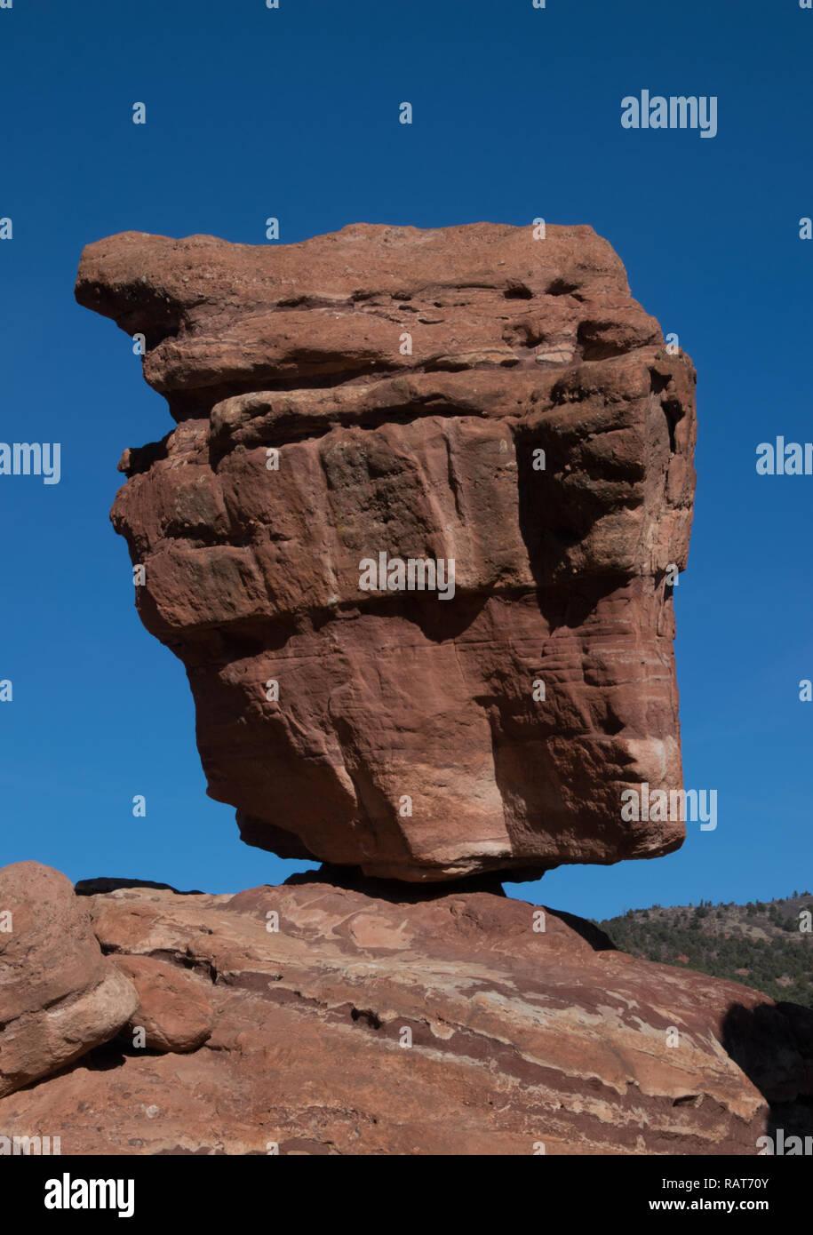 Balancing Rock, Garden of the Gods, Colorado 01/2018 - Stock Image