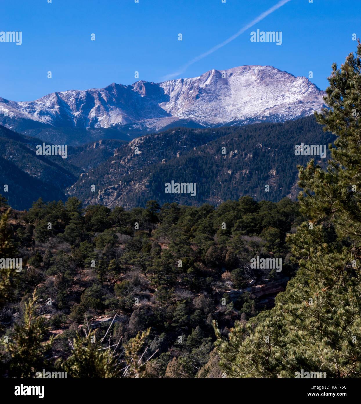 Pike's Peak, Colorado Springs, Colorado 04/2018 - Stock Image