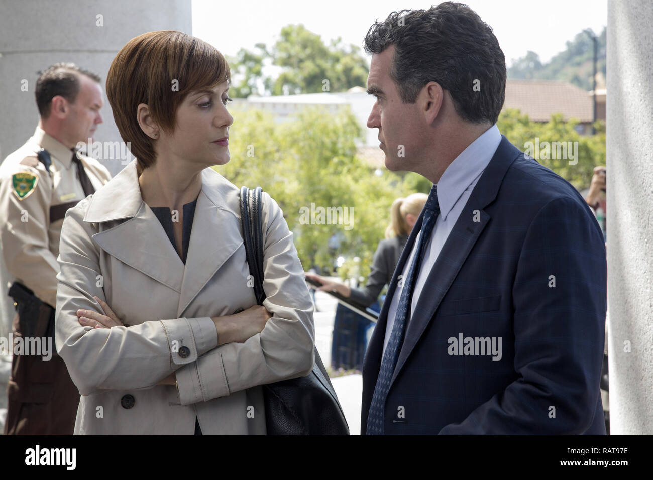 Kate Walsh, Brian D'Arcy James, '13 Reasons Why' Season 2 (2018)  Credit: Netflix / The Hollywood Archive - Stock Image