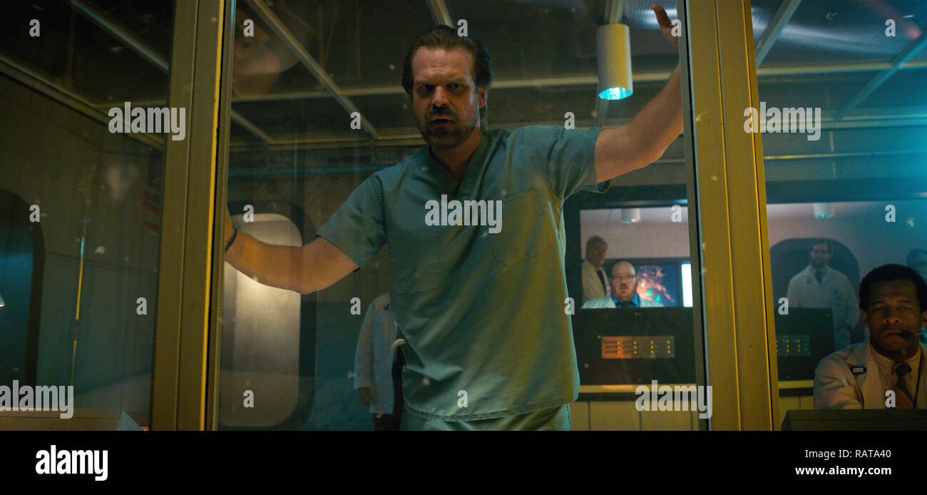 David Harbour,, 'Stranger Things' Season 2 (2017)  Credit: Netflix / The Hollywood Archive - Stock Image