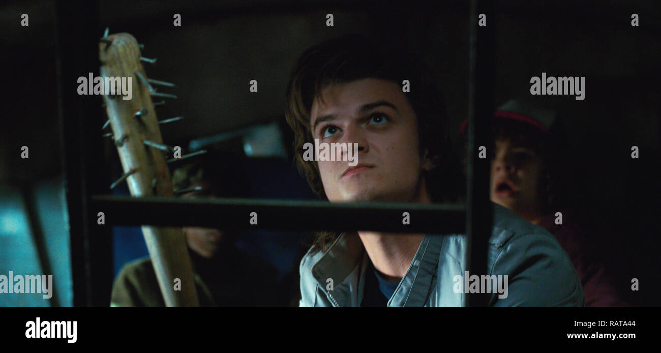 Joe Keery,, 'Stranger Things' Season 2 (2017)  Credit: Netflix / The Hollywood Archive - Stock Image