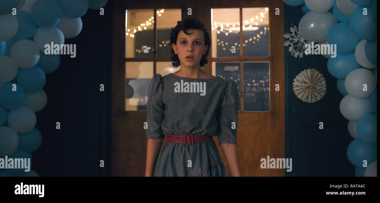 Millie Bobby Brown,, 'Stranger Things' Season 2 (2017)  Credit: Netflix / The Hollywood Archive - Stock Image