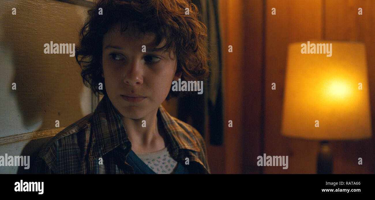 Millie Bobby Brown, 'Stranger Things' Season 2 (2017)  Credit: Netflix / The Hollywood Archive - Stock Image