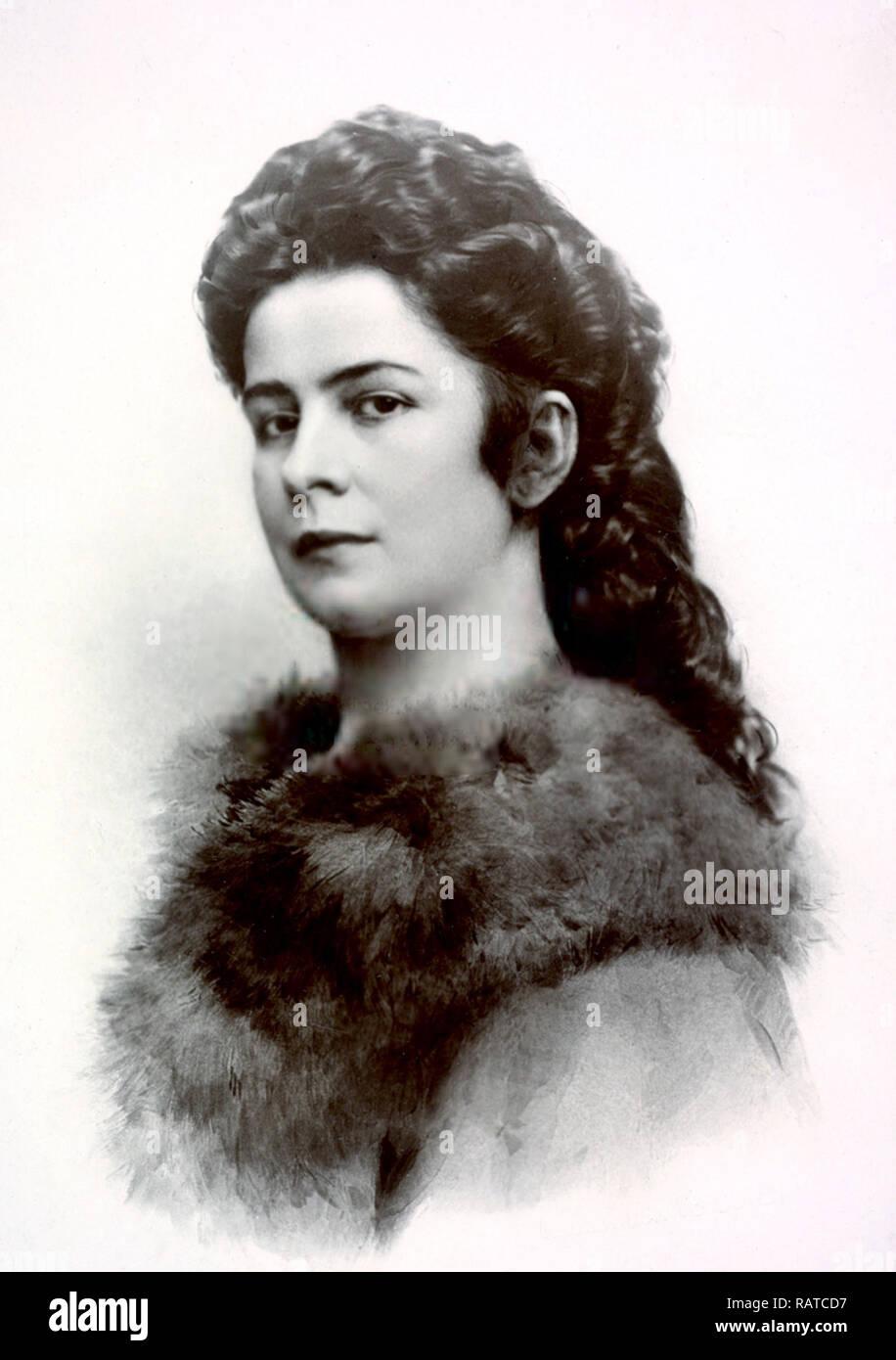 Empress Elisabeth of Austria, Elisabeth of Austria (1837 – 1898) Empress of Austria and Queen of Hungary, marriage to Emperor Franz Joseph I. - Stock Image
