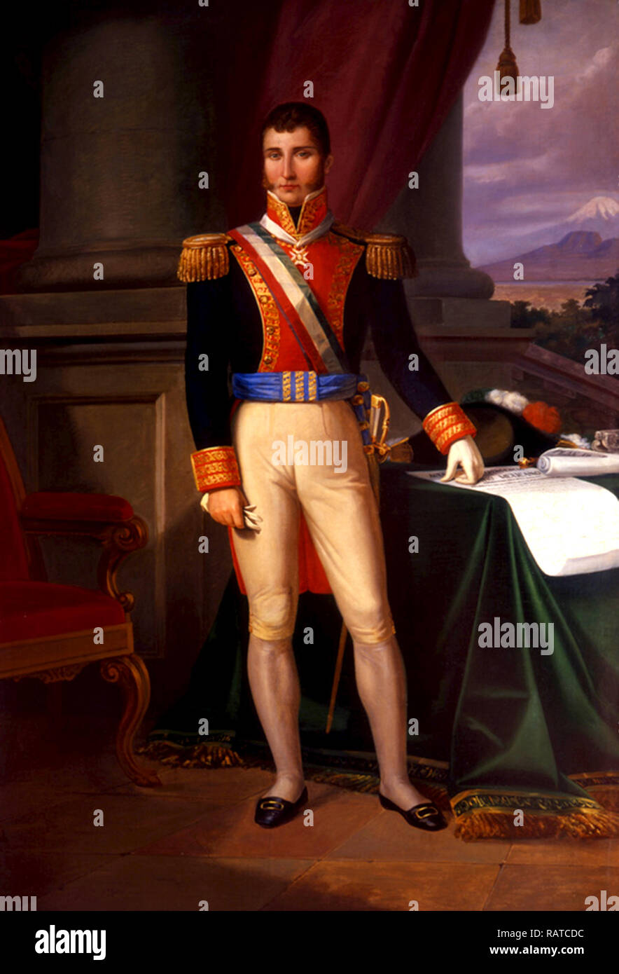 Agustín Cosme Damián de Iturbide y Arámburu (1783 – 1824), Augustine of Mexico, Mexican army general and politician - Stock Image