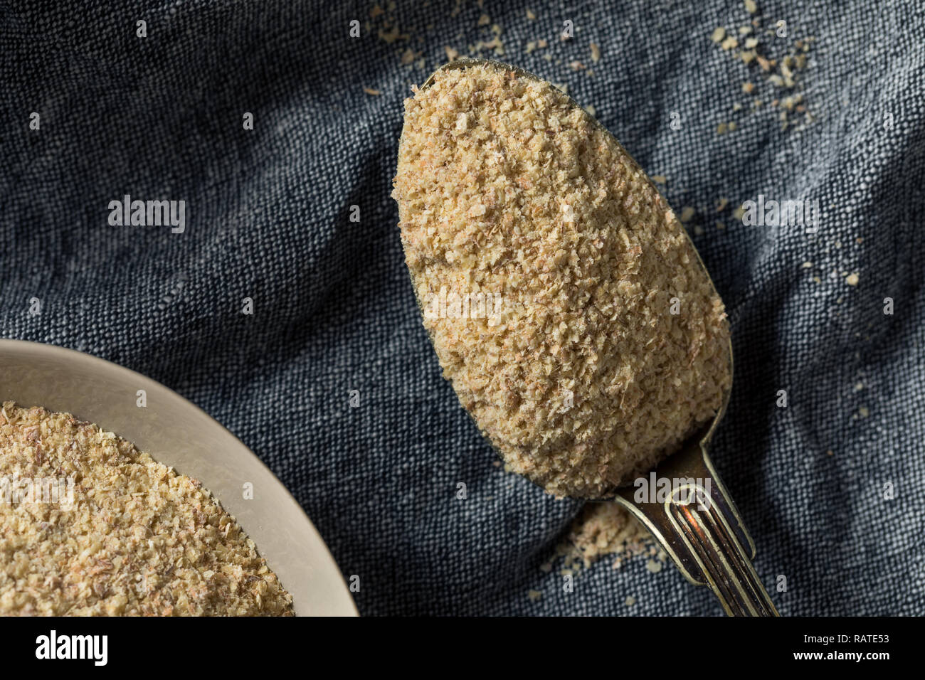 Dry Organic Wheat Germ Flour Ready to Cook With - Stock Image