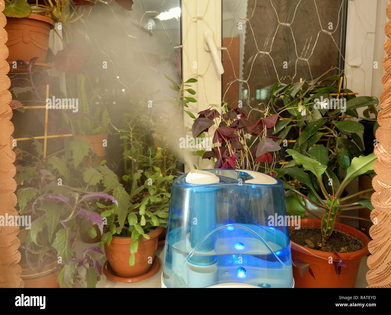 To create a comfortable microclimate in the apartment. - Stock Image