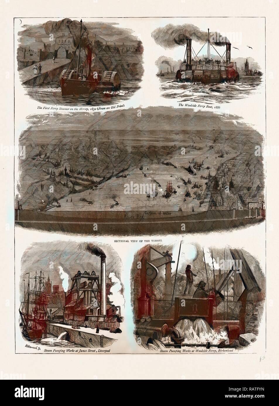 LIVERPOOL.Seacombe,Egremont,Woodside Ferry,River Mersey,Birkenhead 1935 map