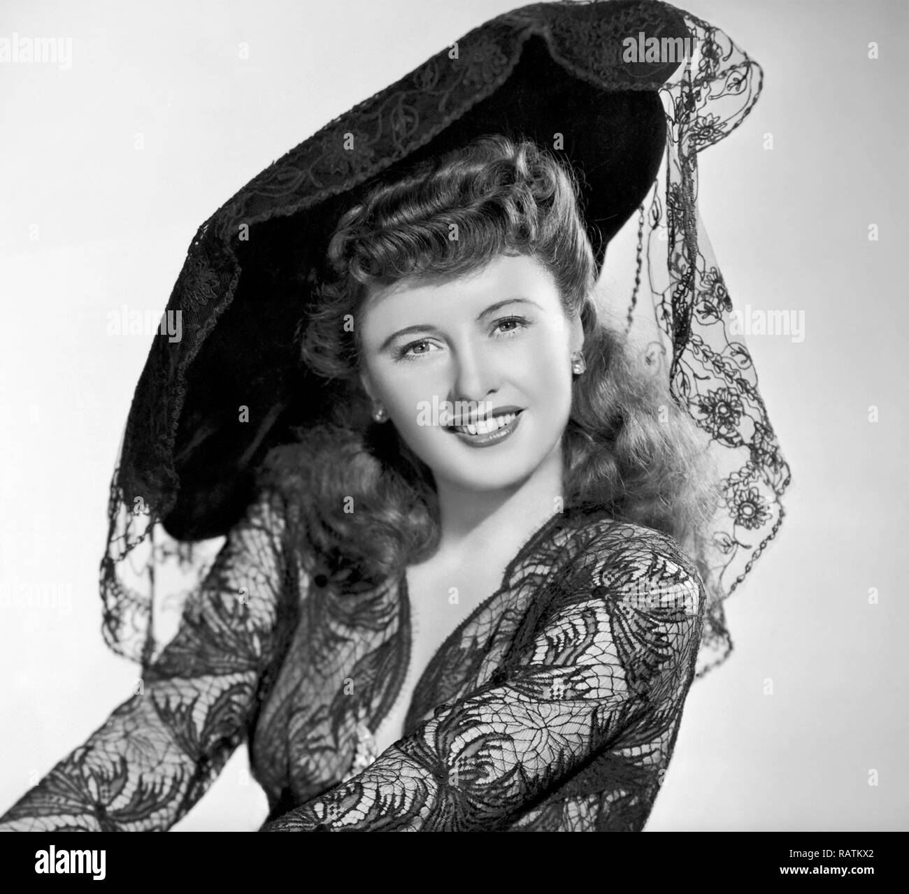 BARBARA STANWYCK (1907-1990) American film actress about 1942 - Stock Image