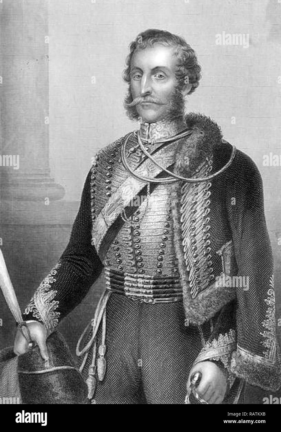JAMES BRUDENELL, 7th Earl of Cardigan (1797-1868) British Army officer who led the Charge of the Light Brigade at the Battle of Balaclava in the Crimean War - Stock Image