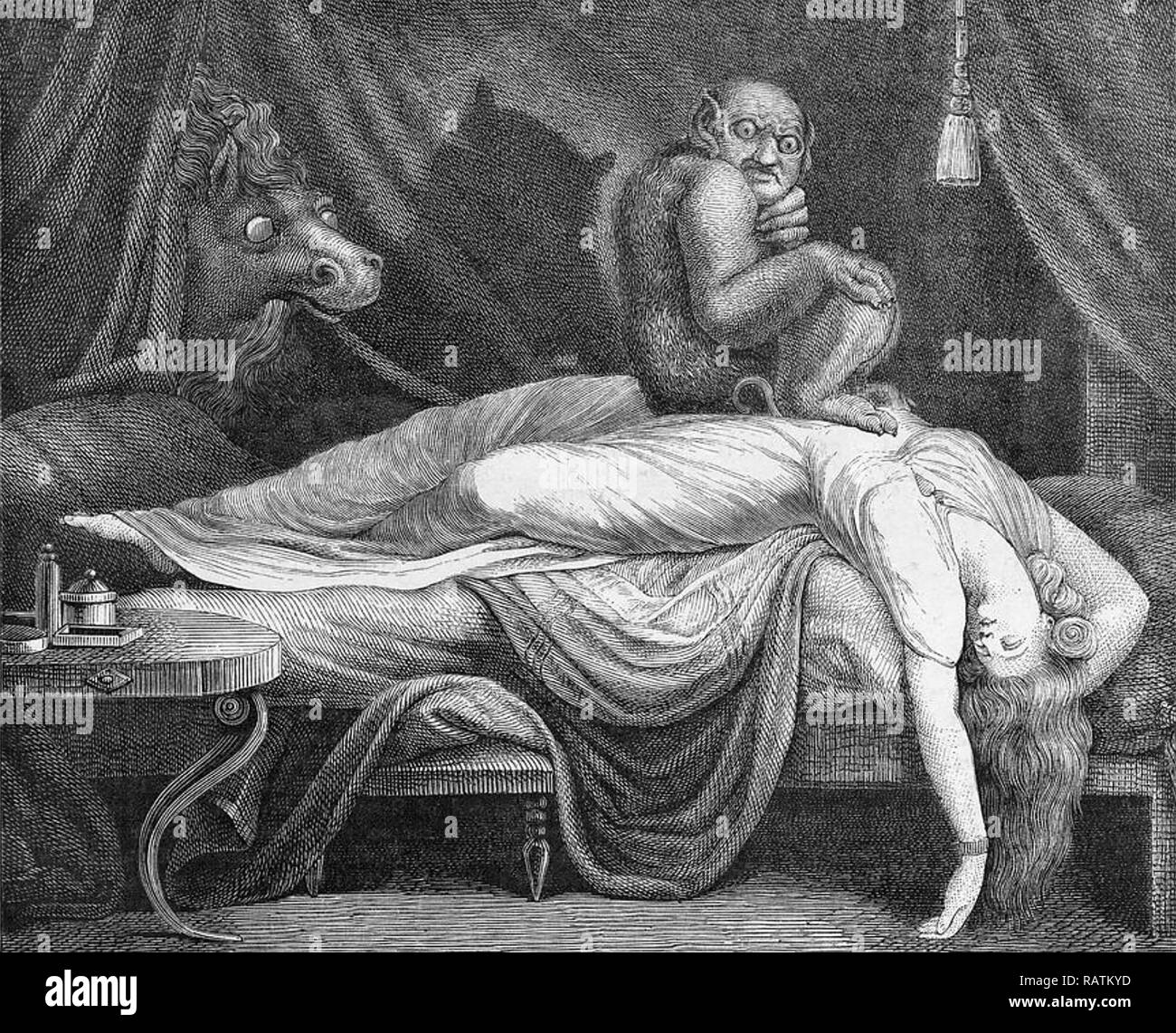 GOTHIC NIGHTMARES A 1780 illustration - Stock Image
