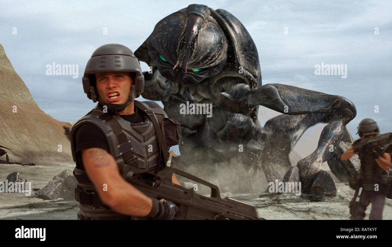 STARSHIP TROOPERS 1997 Touchstone Pictures film with Casper van  Dien - Stock Image