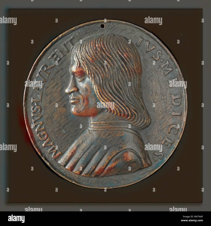 Niccolò Fiorentino (Italian, 1430 - 1514), Lorenzo de' Medici, il Magnifico, 1449-1492, bronze, Late cast, hollow reimagined Stock Photo