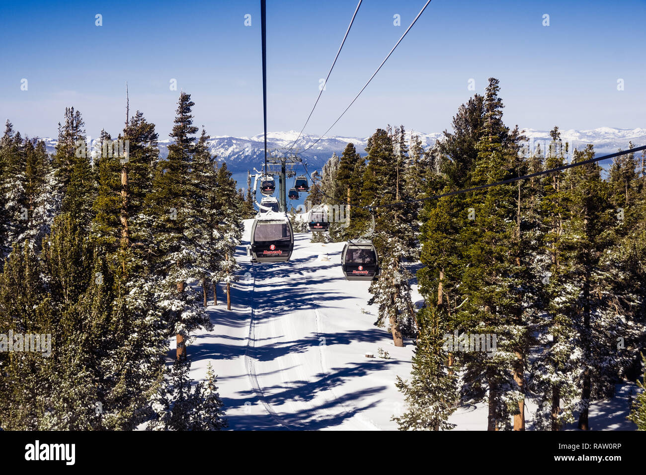 heavenly ski resort stock photos & heavenly ski resort stock images