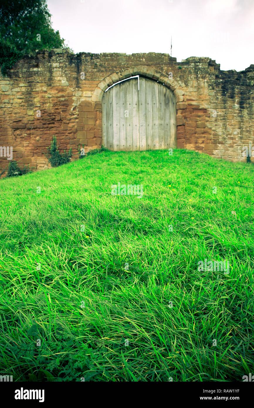 Medieval castle architectural details from Kenilworth Castle UK - Stock Image