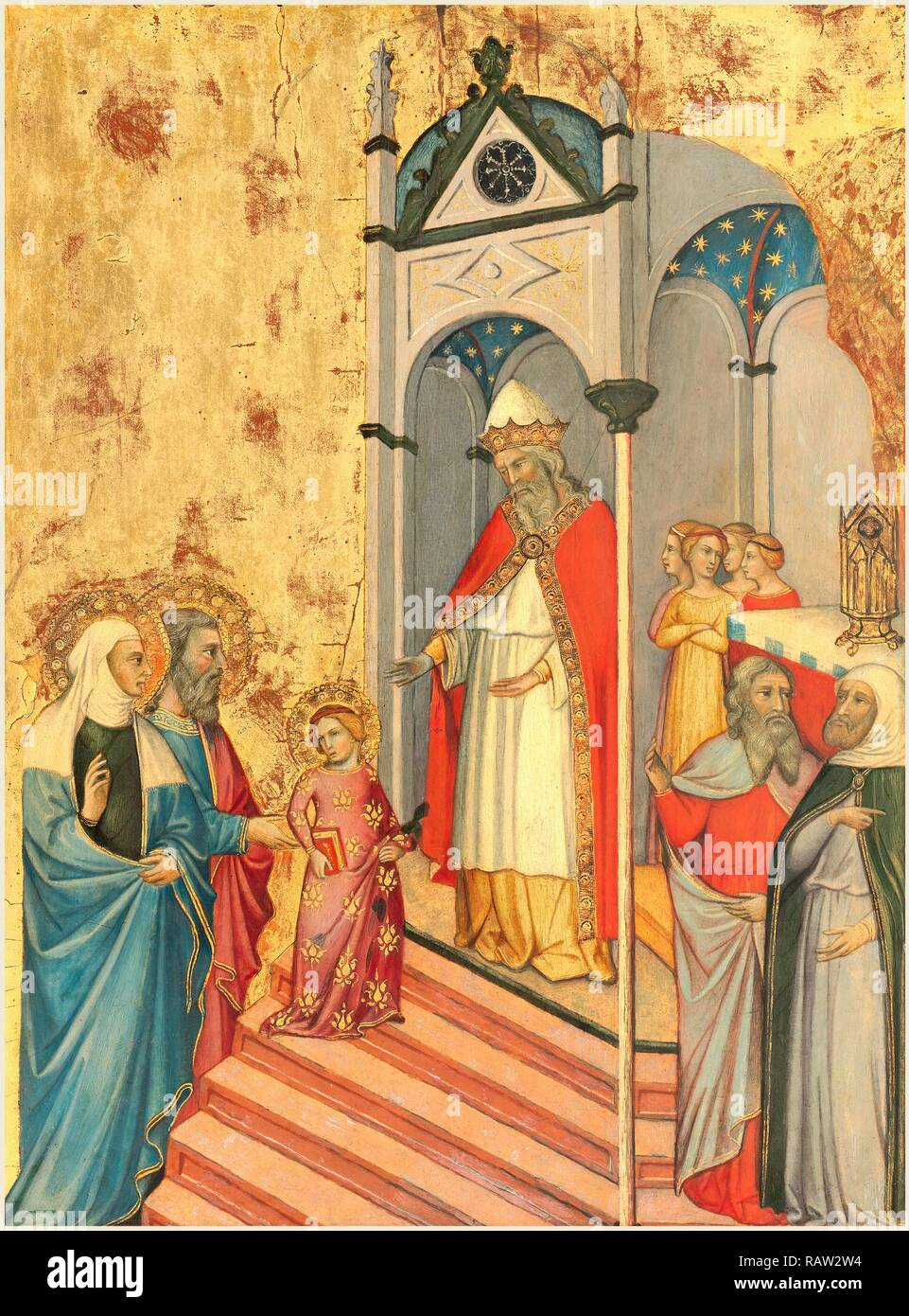 Andrea di Bartolo, Italian (documented from 1389-died 1428), The Presentation of the Virgin, c. 1400, tempera on reimagined - Stock Image