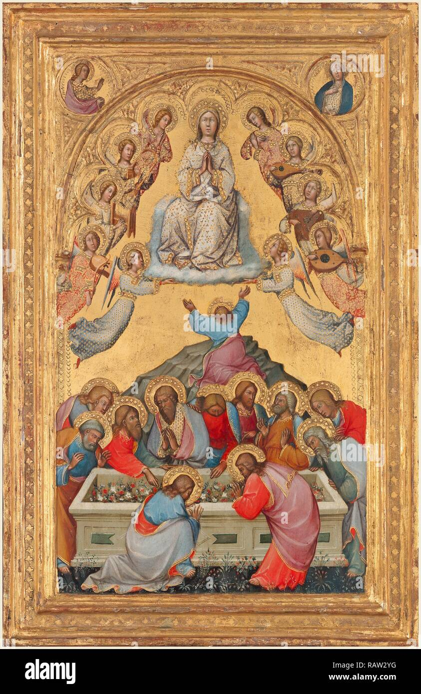 Paolo di Giovanni Fei, Italian (mentioned 1369-1411), The Assumption of the Virgin, probably c. 1385, tempera on reimagined - Stock Image