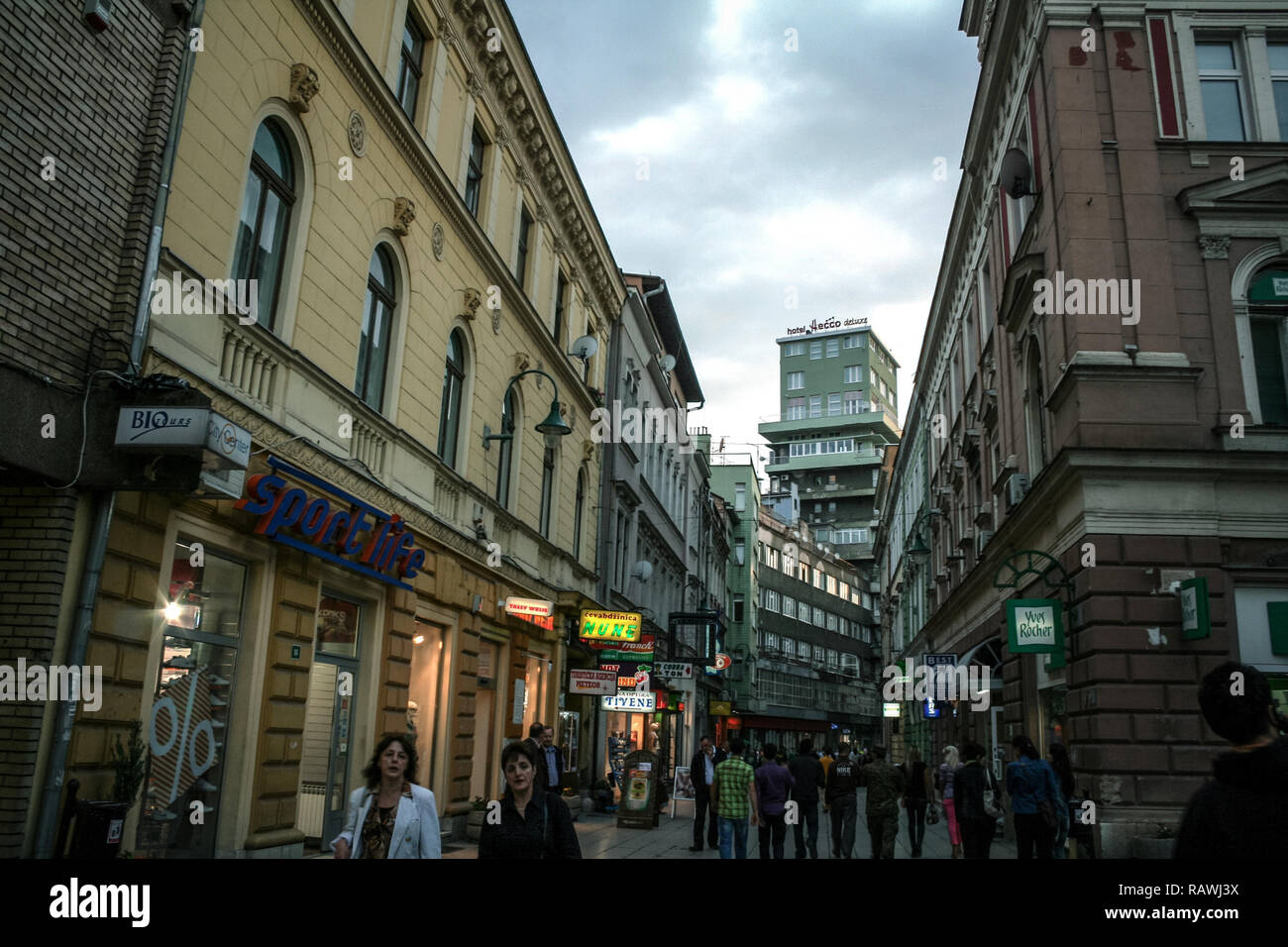 Ulica Street Scene Stock Photos & Ulica Street Scene Stock