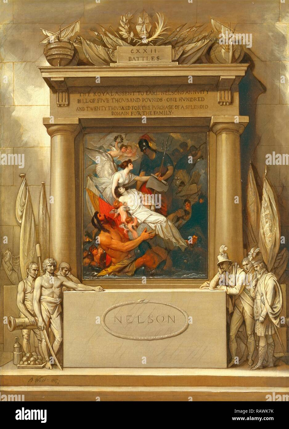 The Apotheosis of Nelson Project for a Monument, 'The