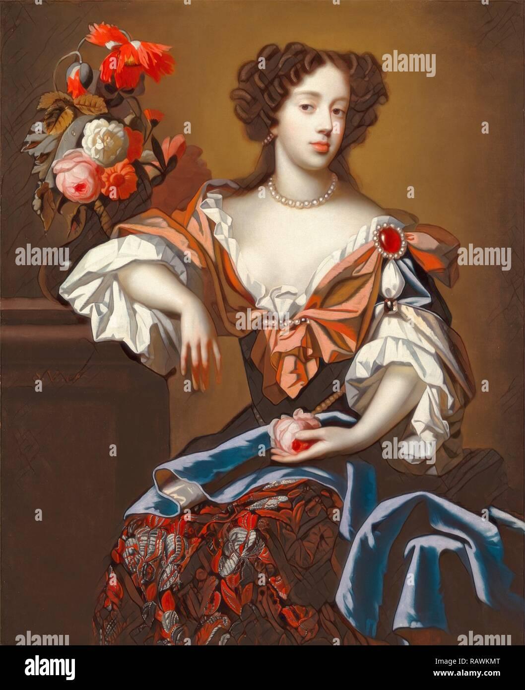 Mary Of Modena Signed Center Left S Ve J Monogram Simon Verelst 1644 1710 Dutch Reimagined Stock Photo Alamy