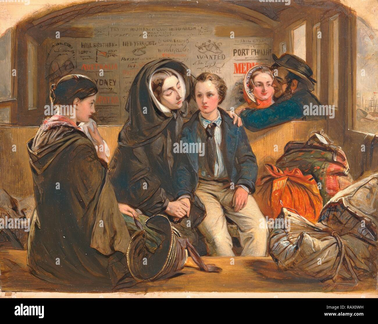 Second Class - The Parting. 'Thus part we rich in sorrow, parting poor.' Third Class - The Parting, Railway journey reimagined - Stock Image