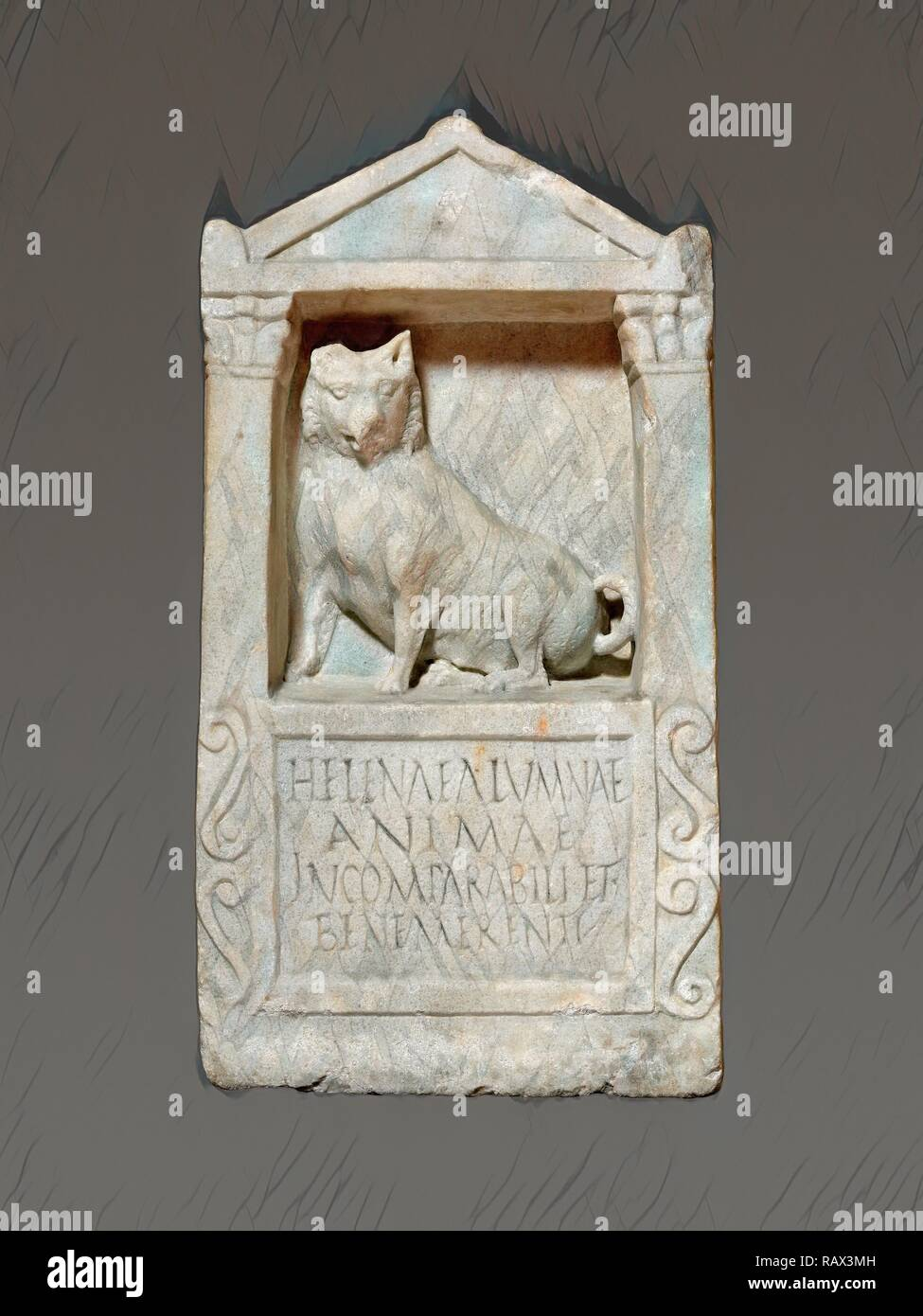 Grave Stele For Helena, Unknown, Rome, Italy, Lazio, Europe, 150 - 200, Marble, Object: H: 61 x W: 31.5 cm (H: 24 x W reimagined - Stock Image