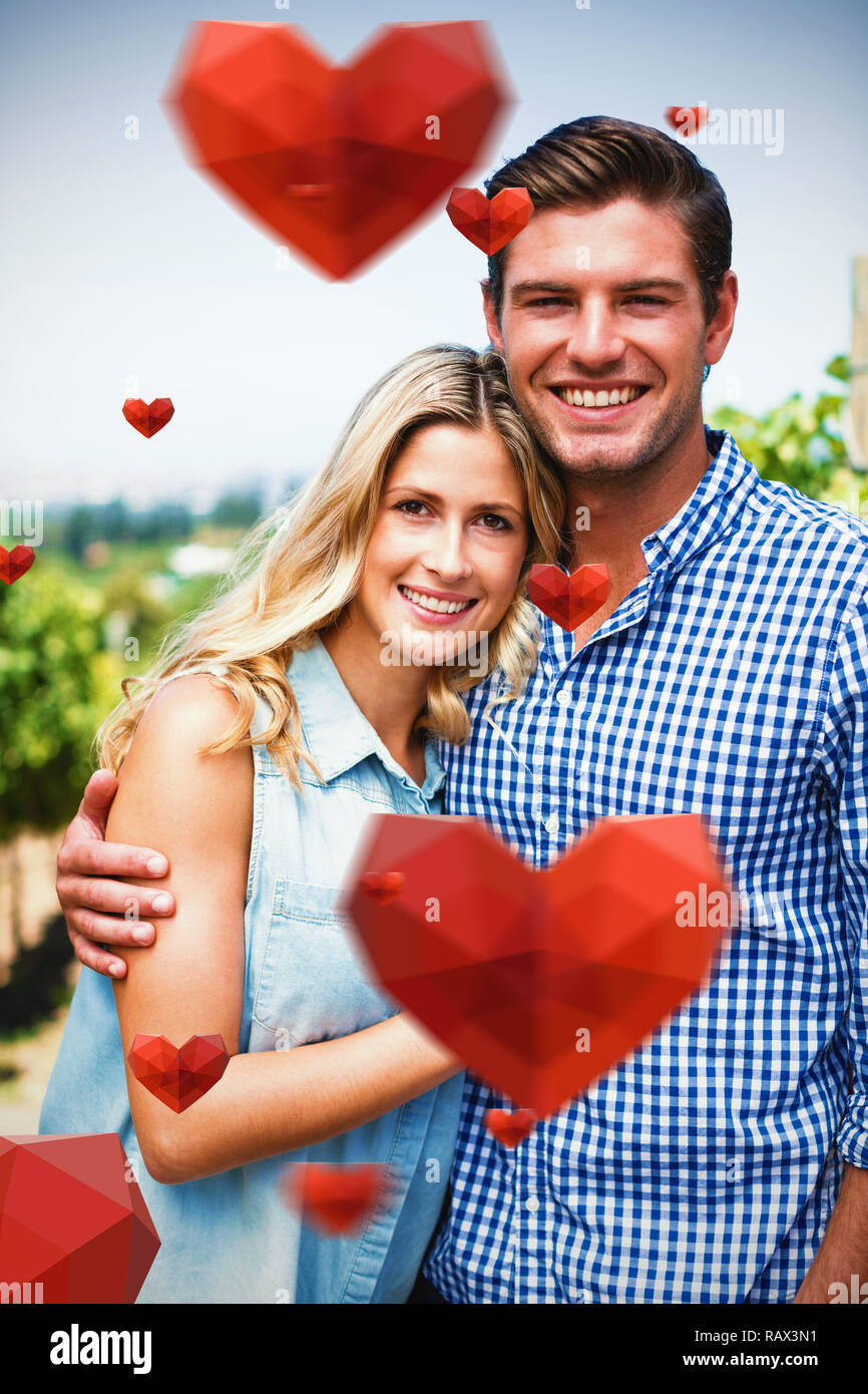 Composite image of red heart with white blackground Stock Photo