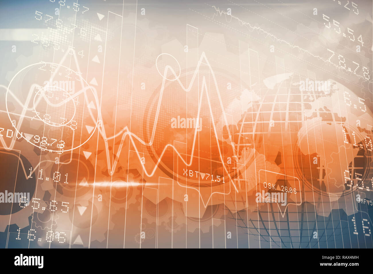 Stocks and shares - Stock Image