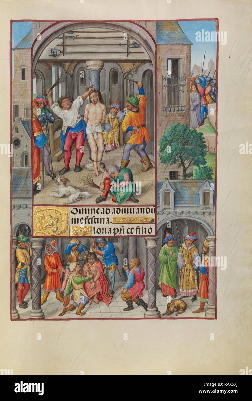 The Flagellation, Master of James IV of Scotland, Flemish, before 1465 - about 1541, Bruges, Belgium, Europe, about reimagined - Stock Image