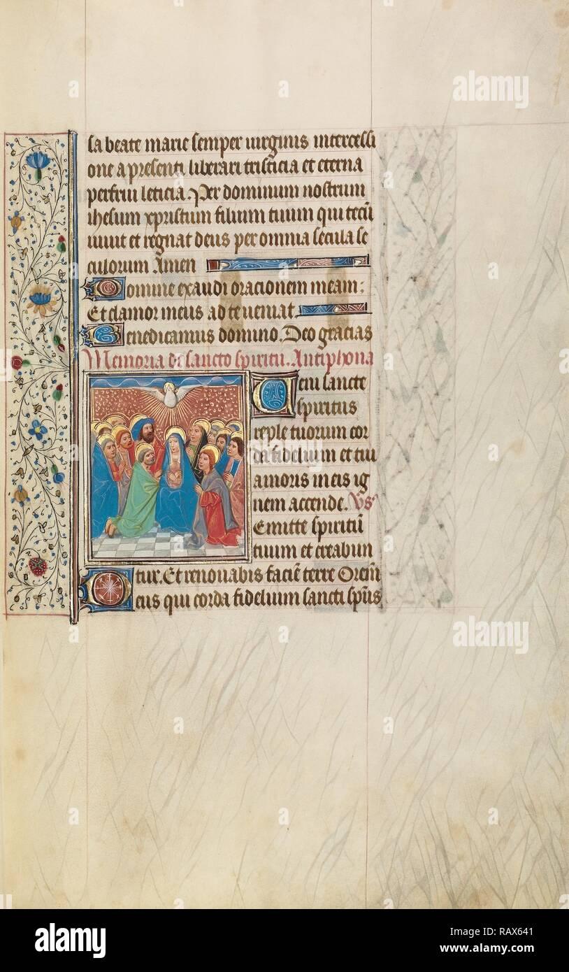 Pentecost, Workshop of Willem Vrelant, Flemish, died 1481, active 1454 -  1481, Bruges, Belgium, Europe, early 1460s reimagined