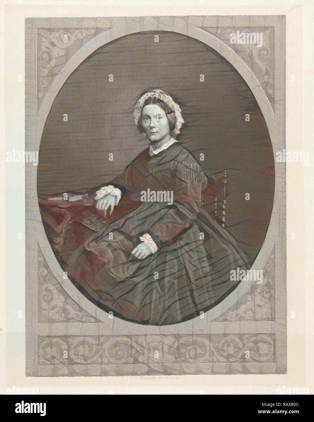 Portrait of Emma Boissevain - Nicholls, Friedrich Wilhelm Burmeister, 1855 - 1915. Reimagined by Gibon. Classic art reimagined - Stock Image