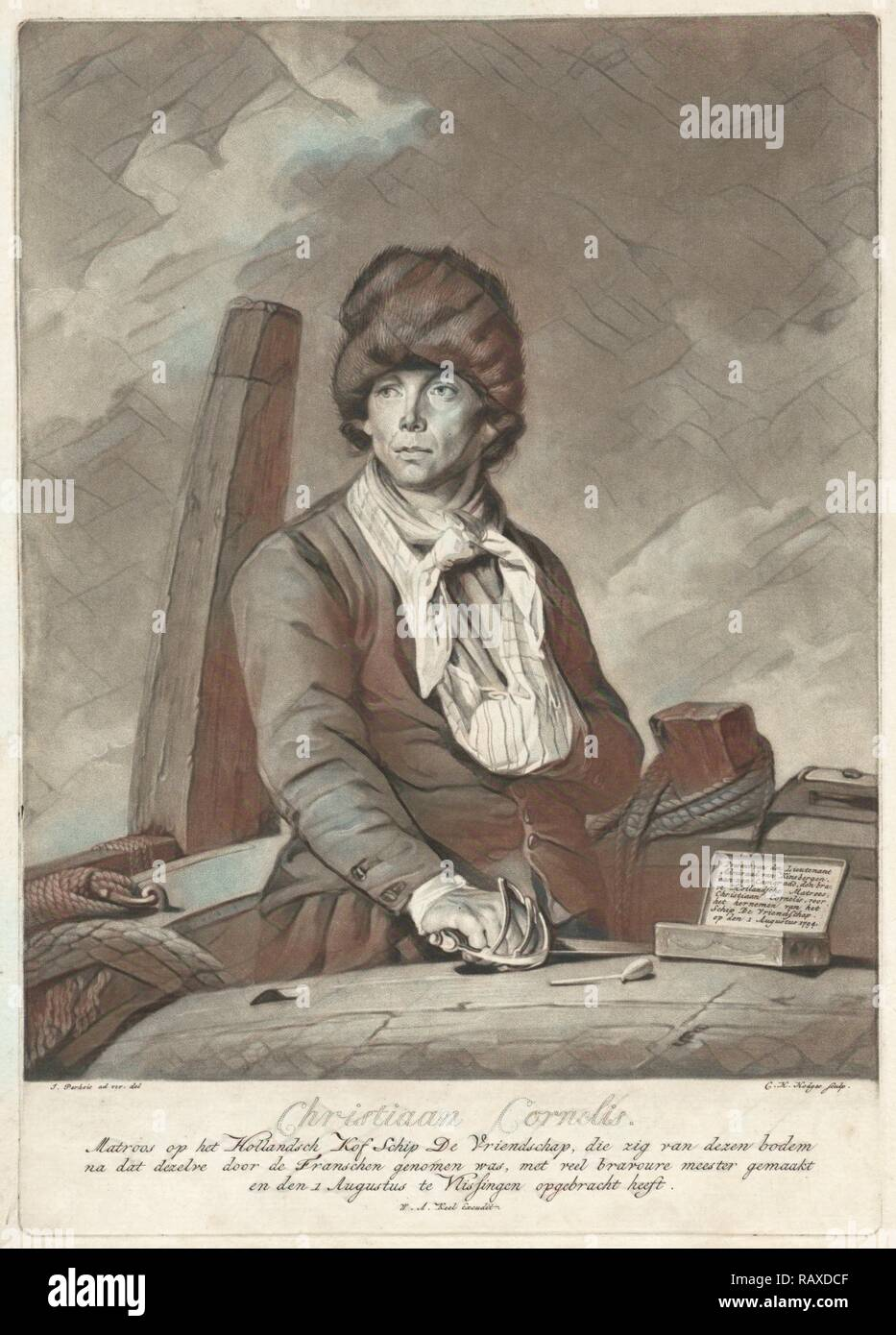 Portrait of Christiaan Cornelis, Charles Howard Hodges, William Alexander Keel, 1794-1796. Reimagined - Stock Image