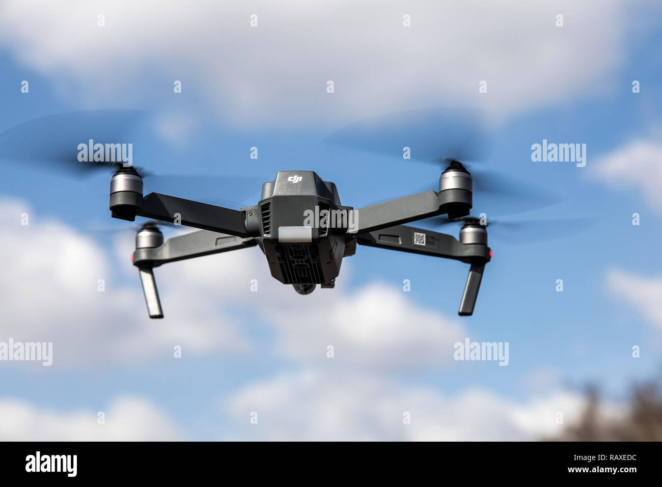 Drone, Multicopter, with Camera, Quadrocopter, Model DJI Mavic Pro, - Stock Image