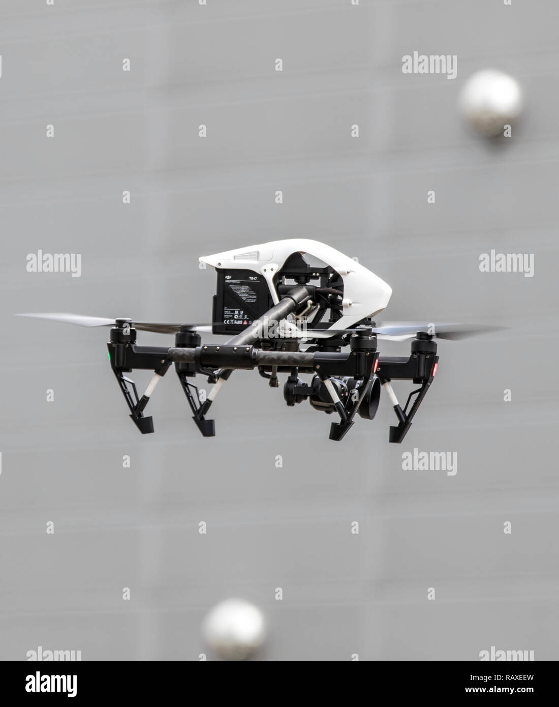Drone, Multicopter, with Camera, Quadrocopter, Model DJI Inspire 1, - Stock Image
