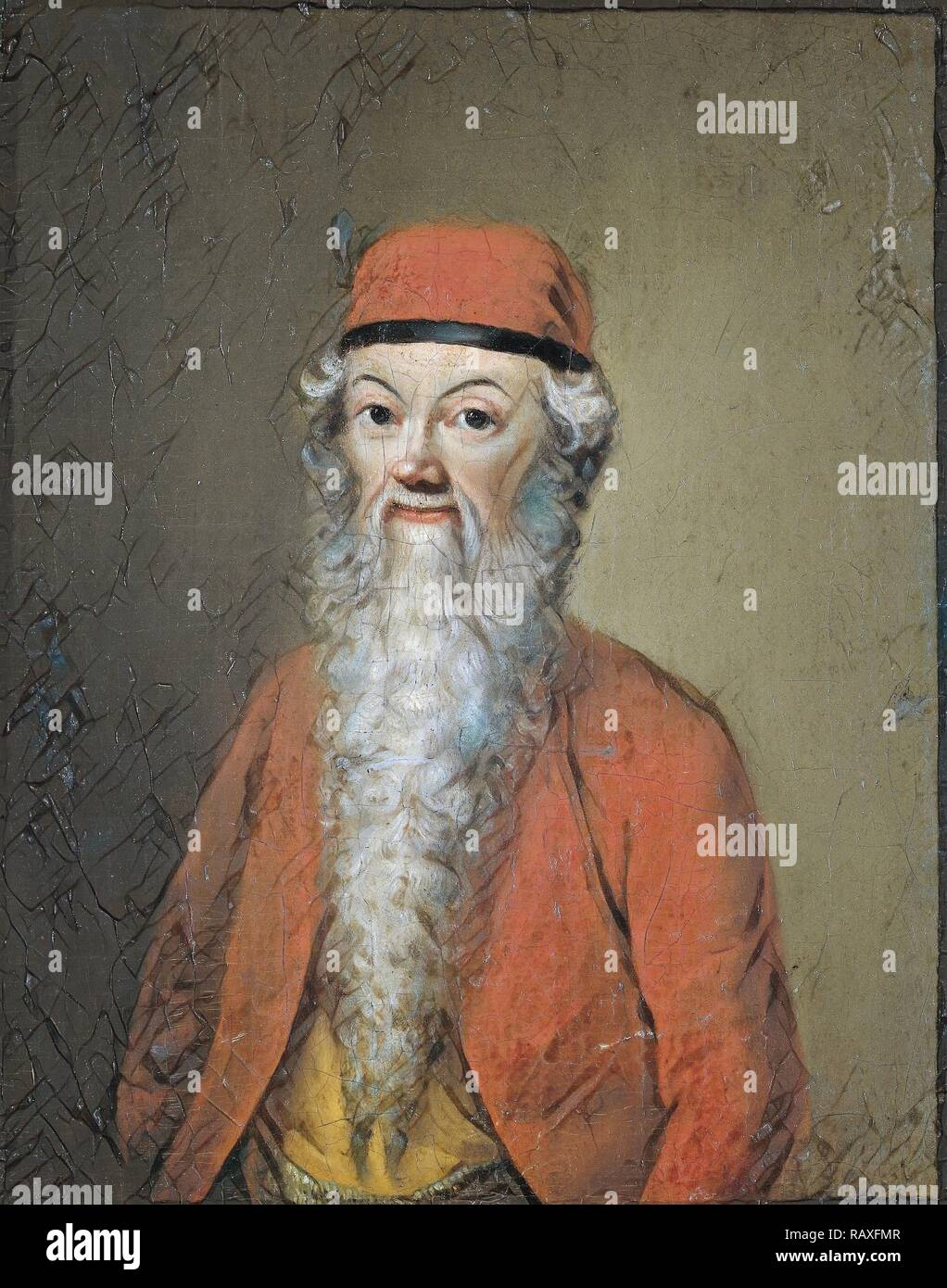 Portrait of Jean-Étienne Liotard at approximately 54 years of age (Self Portrait in Turkish Costume), Anonymous, c reimagined - Stock Image