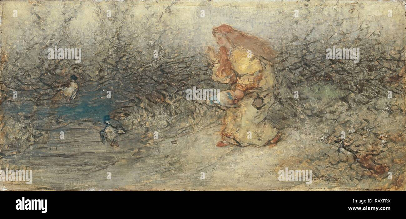 Fairytale, Matthijs Maris, c. 1877. Reimagined by Gibon. Classic art with a modern twist reimagined - Stock Image