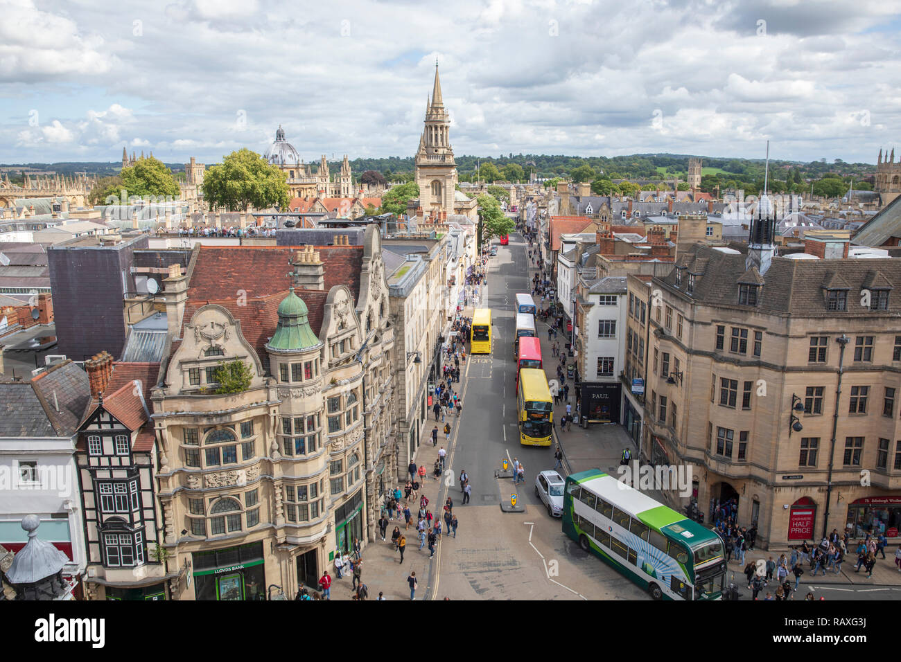View From Carfax Tower Oxford Stock Photos View From Carfax Tower