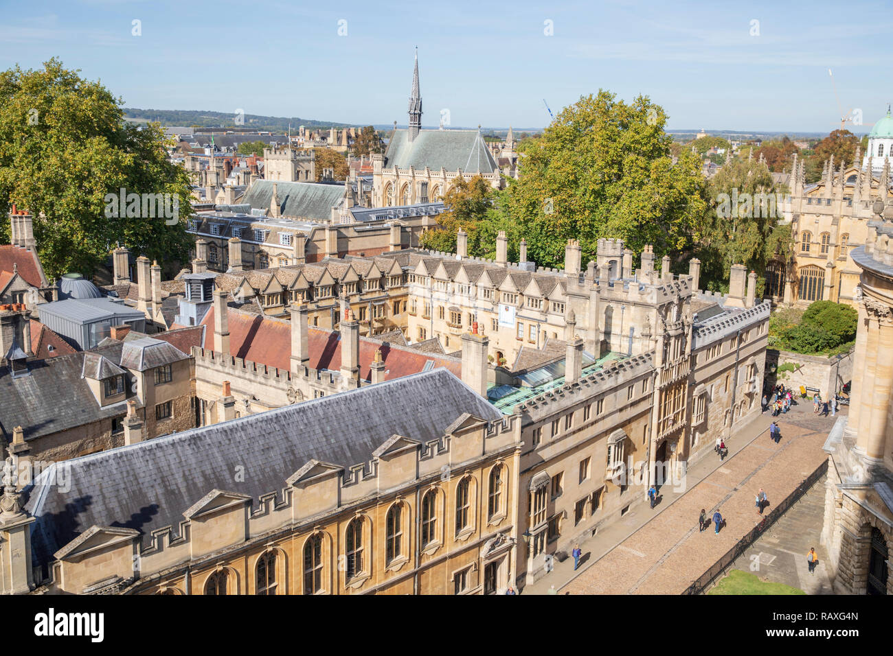 Brasenose College, Oxford, England, with Exeter College in the background. - Stock Image