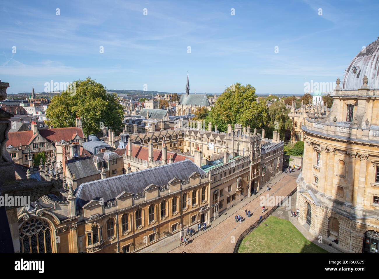 The Radcliffe Camera (detail), Brasenose College & Exeter College in Oxford, England. - Stock Image