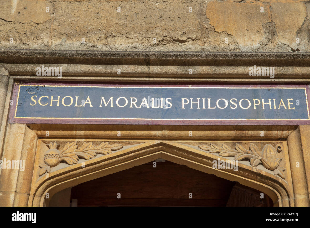 Schola Moralis Philosophiae (School of Moral Philosophy) inside the Bodleian Library in Oxford, England. - Stock Image
